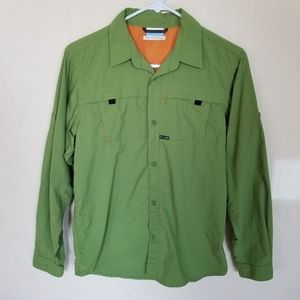 Columbia Omni Shade Green Shirt Youth Size Large